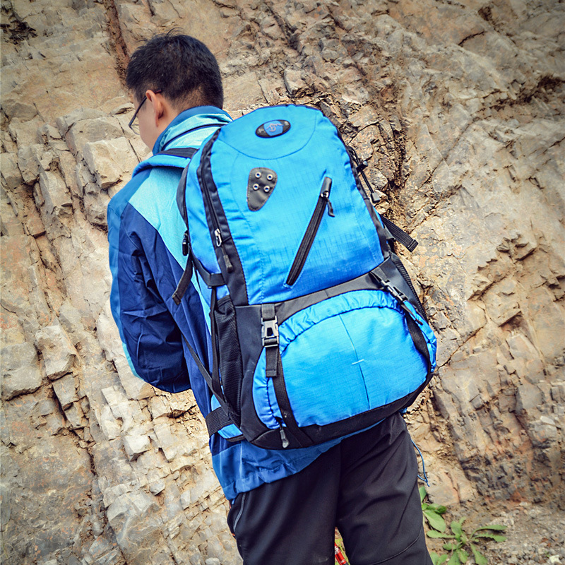 Super 75L Capacity Navy Backpack Outdoors Camp Mountaineering Luggage Travel Rucksack Male Pilots Big Backpack Men Back Bag