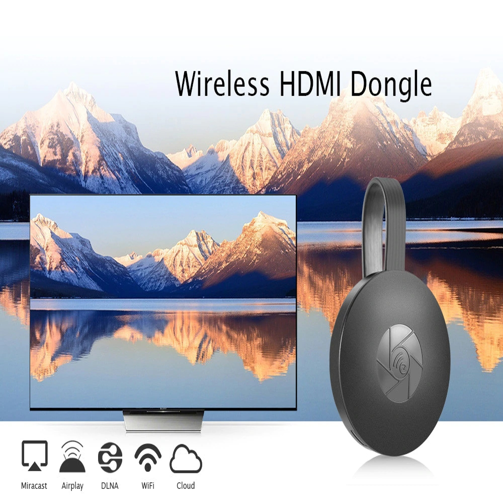 1080P Wireless Display Dongle WIFI Portable Display Receiver HDMI Miracast Dongle for IOS IPhone IPad Mac Android Smartphones