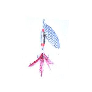 Image 3 - OLOEY 5 7g Câu Cá Thìa Mồi Kim Loại Màu Bạc Mồi Con Quay SpoonFishing Dụ Mồi Kim Sa Lấp Lánh với Lông Vũ Bass treble