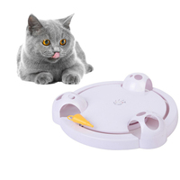Electric Cat Toy Cat Interactive Rotating Toy Smart Game Rotating Turntable Capture Mouse Donut Automatic Stimulation Pet Toy