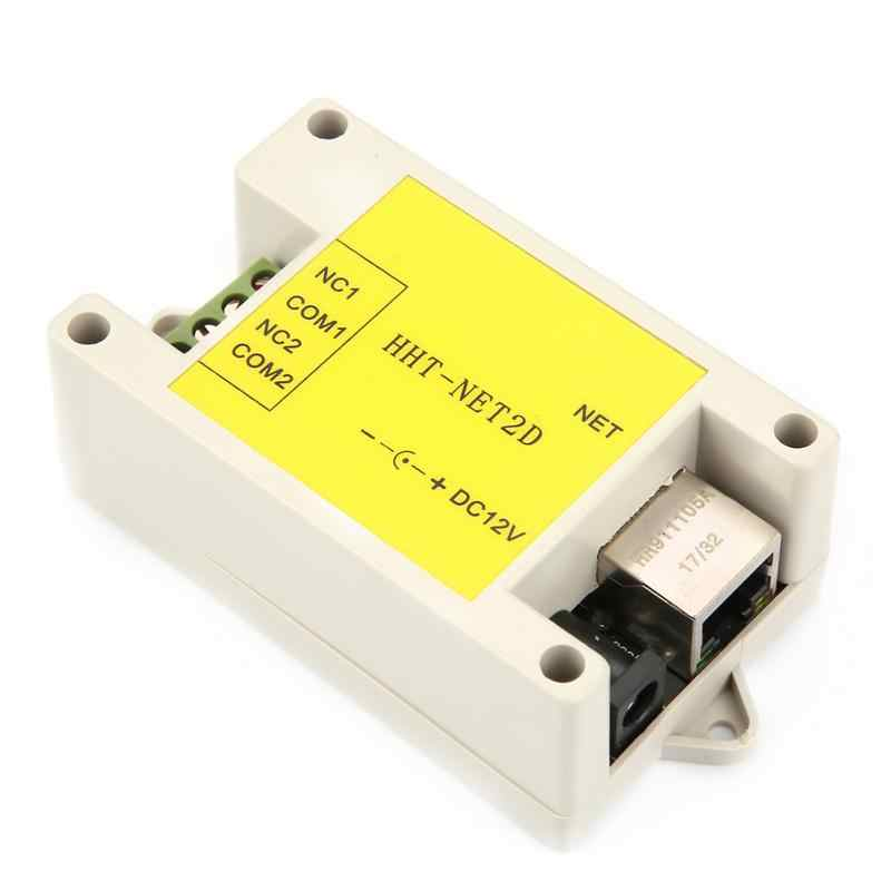 New DC12V 2 Kênh Ethernet IP Mạng Mô-đun Tiếp Sức Internet Cơ Quan Giám Sát Chất Lượng Cao