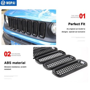 Image 4 - MOPAI Racing Grills für Jeep Renegade 2015 + Auto Kühlergrill Dekoration Abdeckung Aufkleber für Jeep Renegade Auto Zubehör Styling