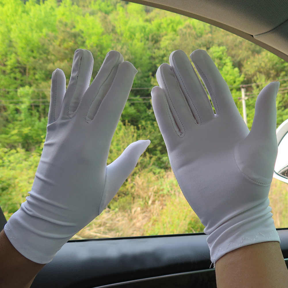 אביב קיץ ספנדקס כפפות נשים גברים שחור לבן כללי התנהגות קצר כפפות דק ספורט נהיגה שמש הגנת חמש אצבעות כפפות