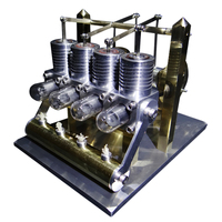Professional Version Domineering 4 Cylinder Row Balance Powerful Stirling Engine Model Building Kits Toys For Children