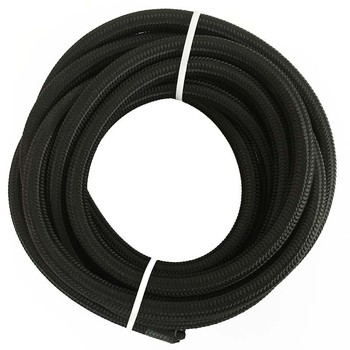 ESPEEDER 5M AN4 AN6 AN8 AN10 AN12 Racing Hose Pipe Universal Nylon-Stainless Steel Fuel Line Black Oil Cooler Hose Tubing wlr universal 15 rows trust type oil cooler an10 oil sandwich plate adapter with thermostat 2pcs nylon braided hose line black