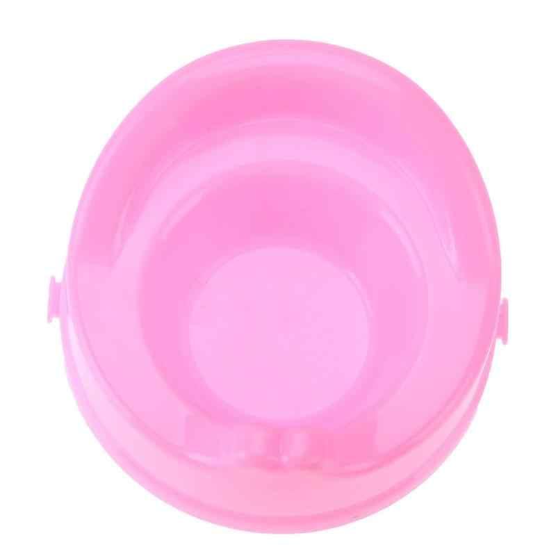 1 Wc pc Molde para o bebê Boneca Réplica De Plástico Rosa Dollhouse Acessório Do Banheiro Mobiliário Kid Pretend Play brinquedos de Vida Em Casa