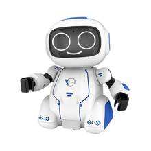 Intelligent RC Robot Toy Smart Electronic Voice Dialogue Voice Control Orbit Kids Toy Education Robot Children Birthday Present(China)