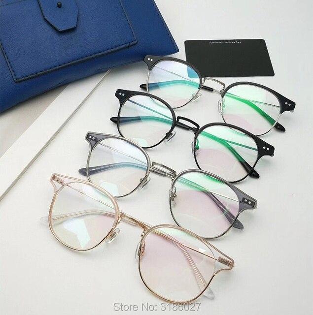 Gentle Brand Designer Retro Fashion Glasses Metal Acetate Frame  5