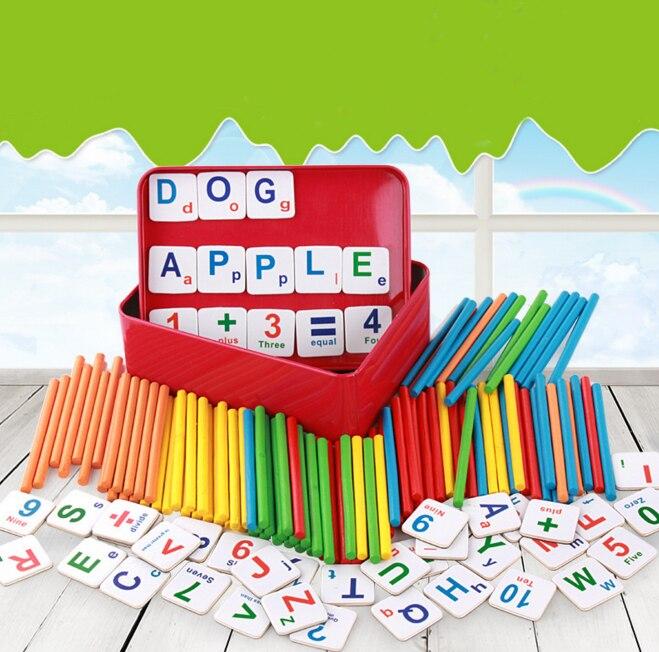 1 Set Creative Baby Speelgoed Kids Educatief Speelgoed Creatieve Houten Stokken Magneet Wiskunde Tellen Set Voor Leren Speelgoed