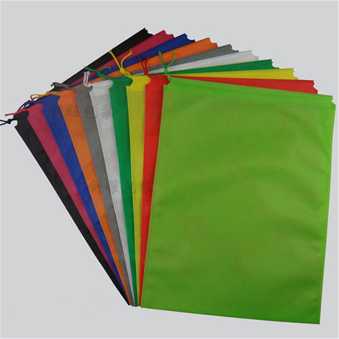 100 PCS thickening non woven bag non woven drawstring bags cloth storage bags shoe container storage
