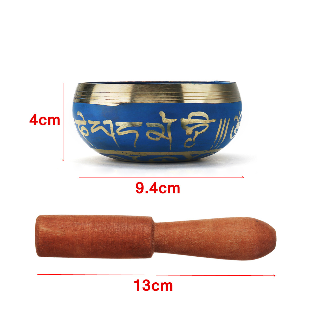 Blue Color Tibetan Singing Bowl Set 4