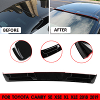 Car Black Rear Roof Spoiler Top Wing Lip W/3 Meters Glue ABS Plastic For Toyota Camry SE XSE XL XLE 2018 2019