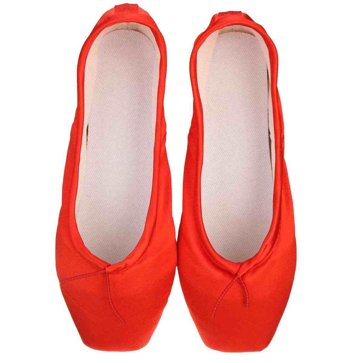 ผู้หญิง Professional บัลเล่ต์เต้นรำรองเท้าชี้ Toe ซาตินรองเท้าเต้นรำบัลเล่ต์เด็กผู้ใหญ่สุภาพสตรีริบบิ้นบัลเล่ต์รองเท้า