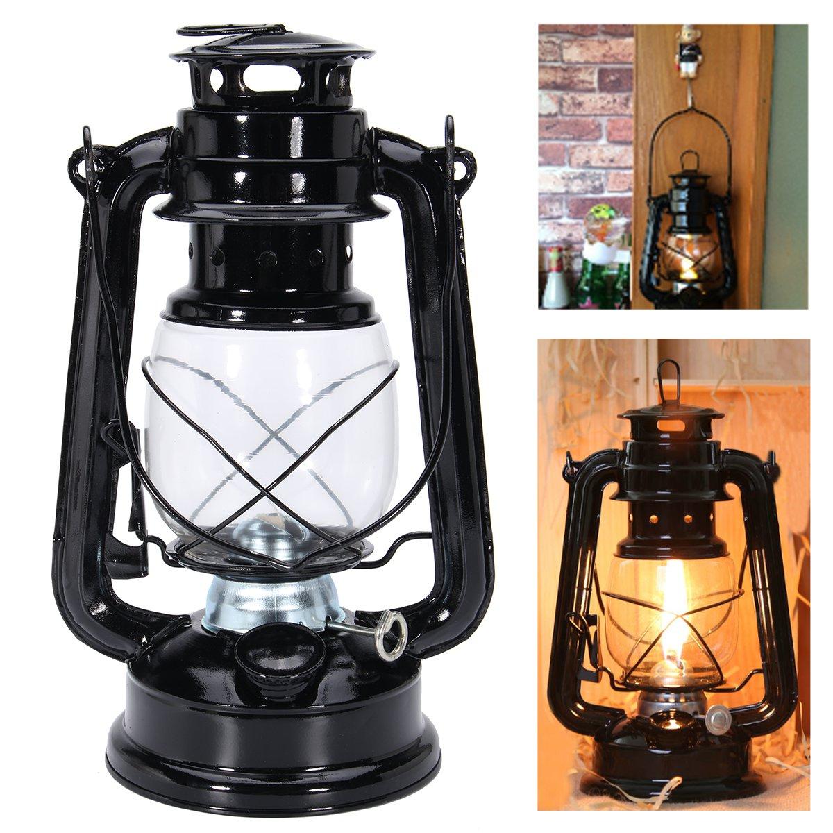 10/'/' Retro Oil Lantern Garden Outdoor Camp Kerosene Paraffin Hurricane Lamp Blue