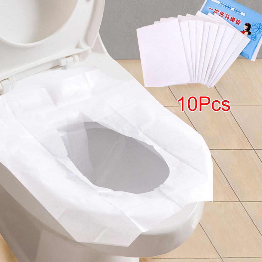 10Pcs Creative and Practical Travel/Camping Hygiene Products Safety and Hygiene Disposable Toilet Seat Cover Bathroom Accessorie