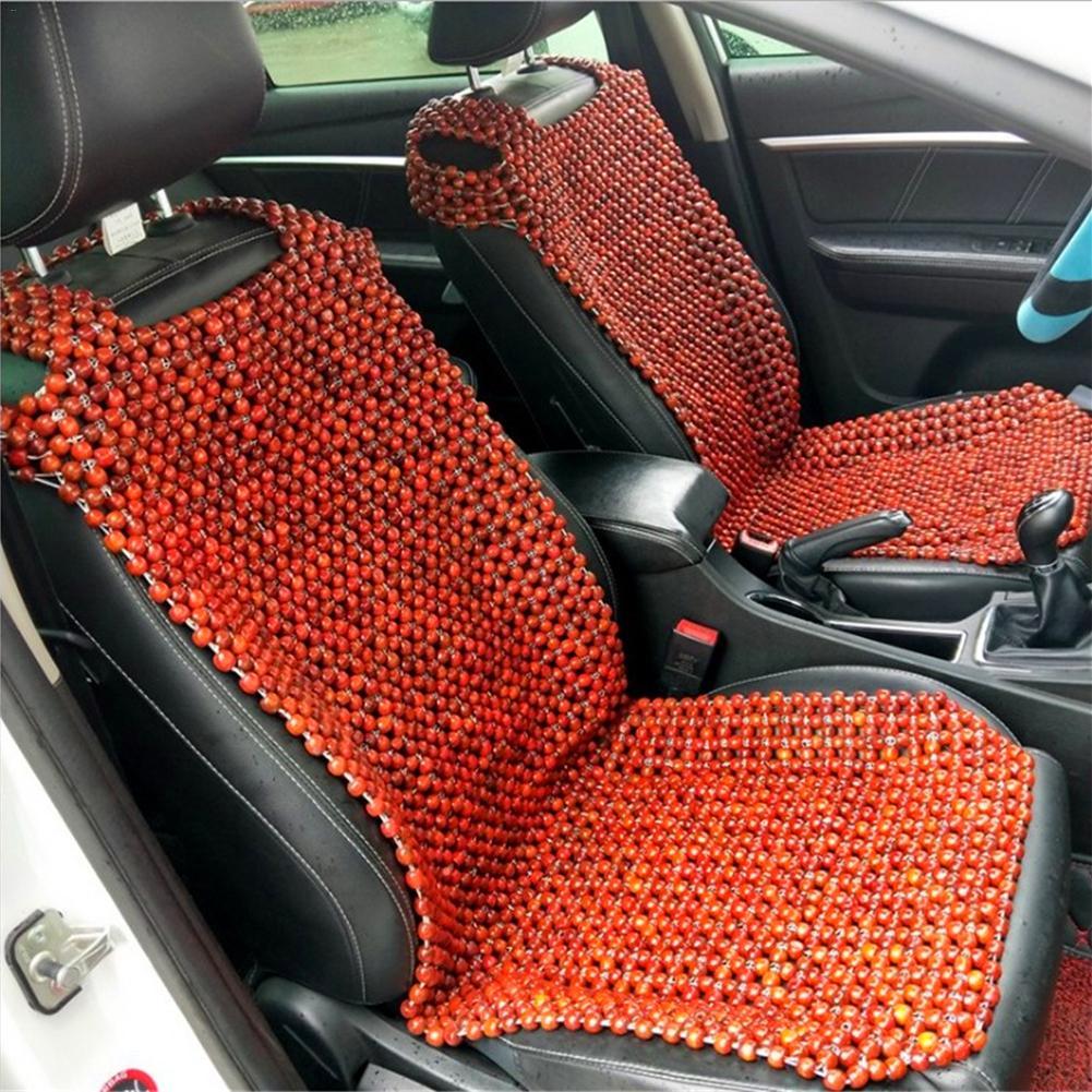 Housse de siège de voiture EXCEL LIFE housse de siège en bois naturel perlé coussin de massage Cool pour les housses de camion de voiture pour les voitures