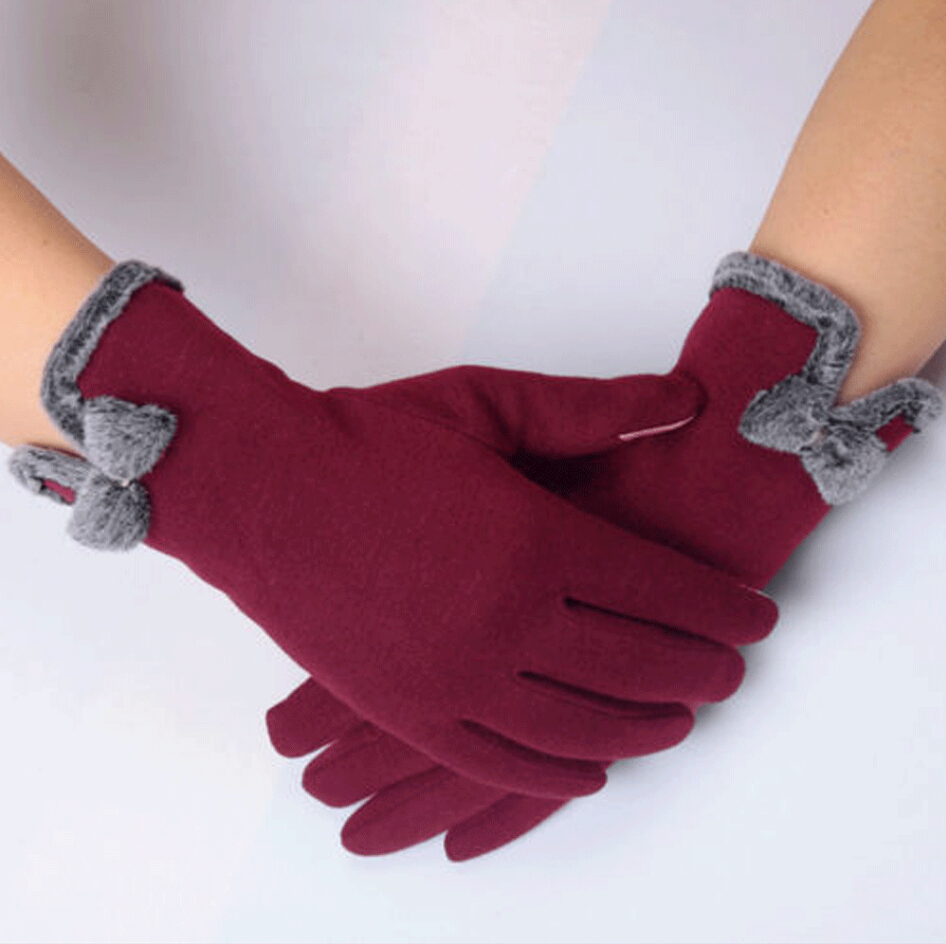 Touch Screen Gloves Soft Winter New Women Texting Cap Active Smart Phone Knit Mittens
