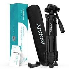 Andoer 2 Keuze 57.5inch Reizen Lichtgewicht Camera Statief voor Video Schieten DSLR SLR Camcorder met Draagtas Telefoon Klem
