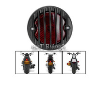 G Motorcycle Ribbed Round Tail Brake Light Lamp for Harley B M W Hon da Su zuki Yamaha Kawa saki Custom Bobber Chopper Scooters