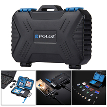 PULUZ Memory Card Reader USB 3.0 SD CF TF Reader with OTG Fuction & 21 Slots Waterproof SD CF TF SIM Cards Case Holder for Tab