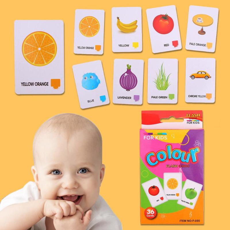 Baby Learning Toy Children Recognition Color Animal Shape Teaching Card Pocket Flash Learning Montessori Educational Toys Gift