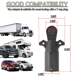 Image 2 - 7 Way RV Blade Wiring Circuit Tester Trailer Hitch LED Connector Plug Pin Round