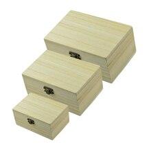 Обычная недостроенный деревянный ящик для хранения ювелирных изделий, со стразами, ручная работа гаджет для декорирования красками декупаж s 3x125/150/175 мм
