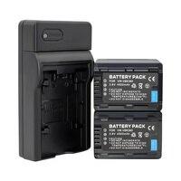 2x VW VBK360 VW VBK360 Battery + Charger for Panasonic HDC HS80 SD40 SD60 SD80 SDX1 SDR H100 H85 H95 HS60 HS80 TM6