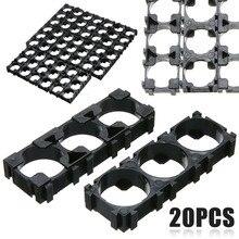 цены на MAYITR 20pcs 3x Cell 18650 Battery Spacer Black Plastic Batteries Radiating Shell Plastic Heat Holder Bracket 6X2X0.8cm  в интернет-магазинах