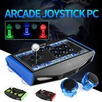RS LED Arcade Joystick 8 Buttons USB Fighting Stick Joystick Gaming Controller Gamepad Video Game For PC Joystick Controller