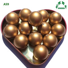 Factory Sell 8mm 10mm 12mm 14mm 16mm 18mm 20mm Imitation ABS Pearls Matt Gold A58 Acrylic Pearl Loose Beads DIY Jewelry