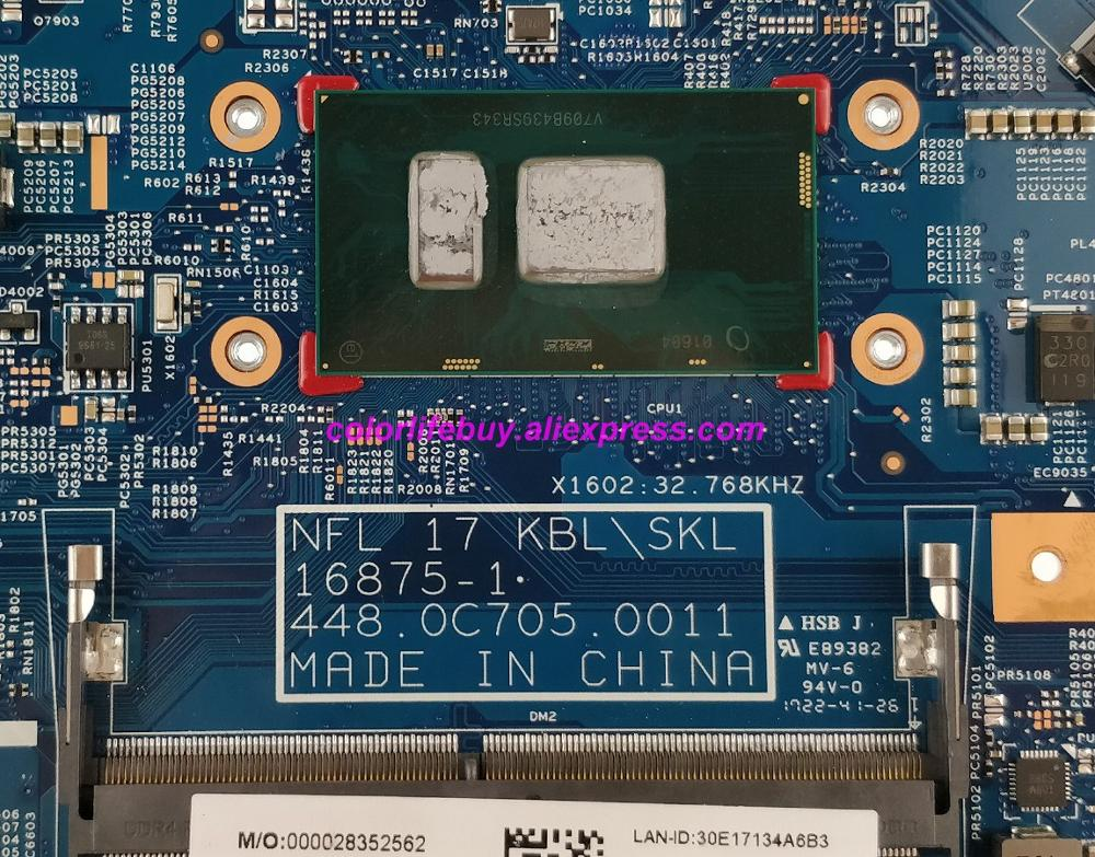 Image 3 - Genuine 925625 601 925625 001 16875 1 448.0C705.0011 i3 7100U Laptop Motherboard for HP 17 17 BS Series 17T BS000 NoteBook PC-in Laptop Motherboard from Computer & Office