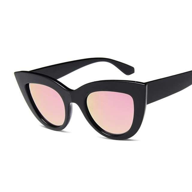 New Retro Fashion Sunglasses Women Brand Designer Vintage Cat Eye Black Sun Glasses Female Lady UV400 Oculos