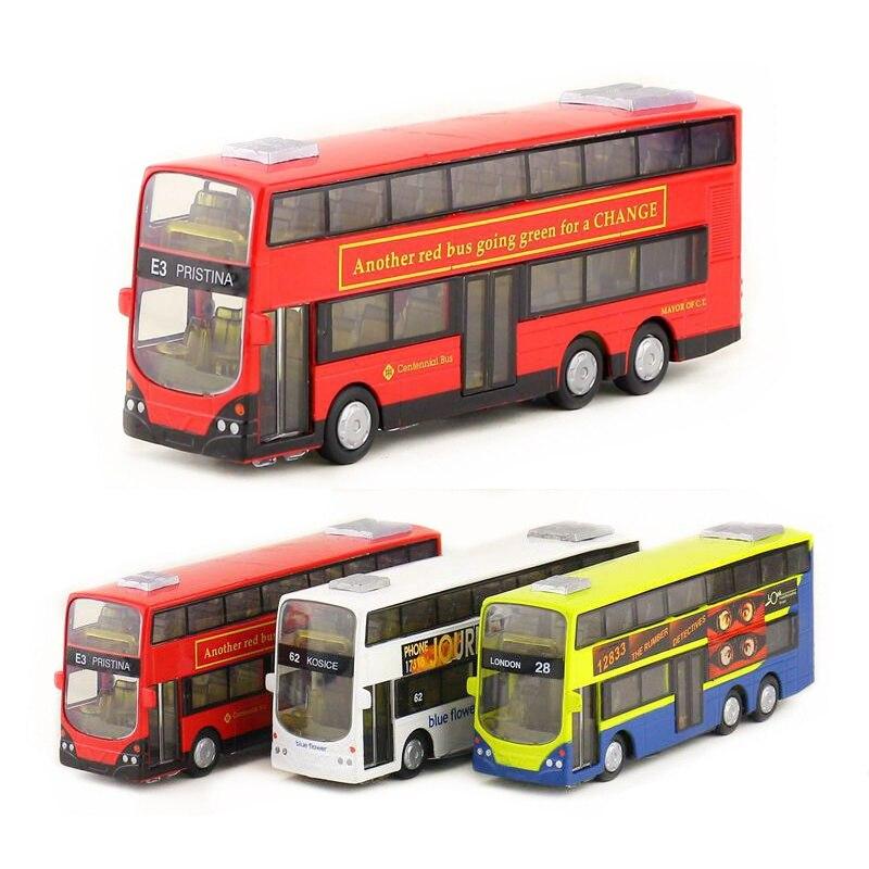 London Double Deck Bus 16CM Sound Light Model Toys X1PC Birthday Christmas Gifts