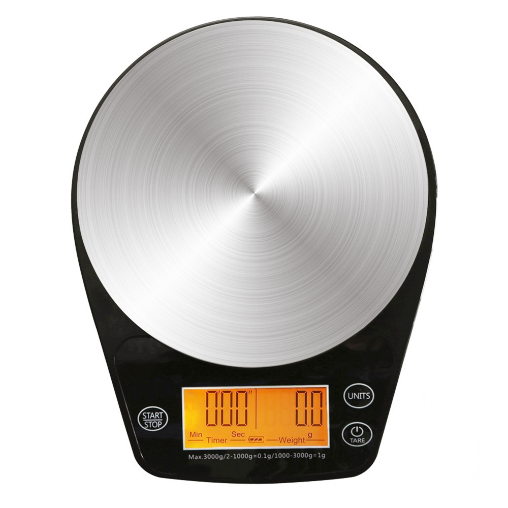 Lovely 6.6lb/3kg Digital Hand Drip Coffee Scale Stainless Steel Precision Sensors Kitchen Food Scale With Timer Weight Lcd Display & Ha Kitchen,dining & Bar
