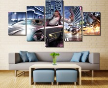5 Piece Canvas Art GTA IV Game Poster Modern Decorative Paintings on Wall for Home Decorations Decor Artwork
