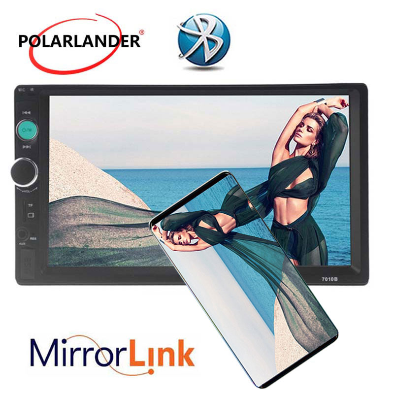 Mirror Link 7 Inch 2 Din Touch Screen MP4 MP5 Radio Player Car Bluetooth Radio USB/TF/FM/Aux Radio Stereo With Rear View Camera
