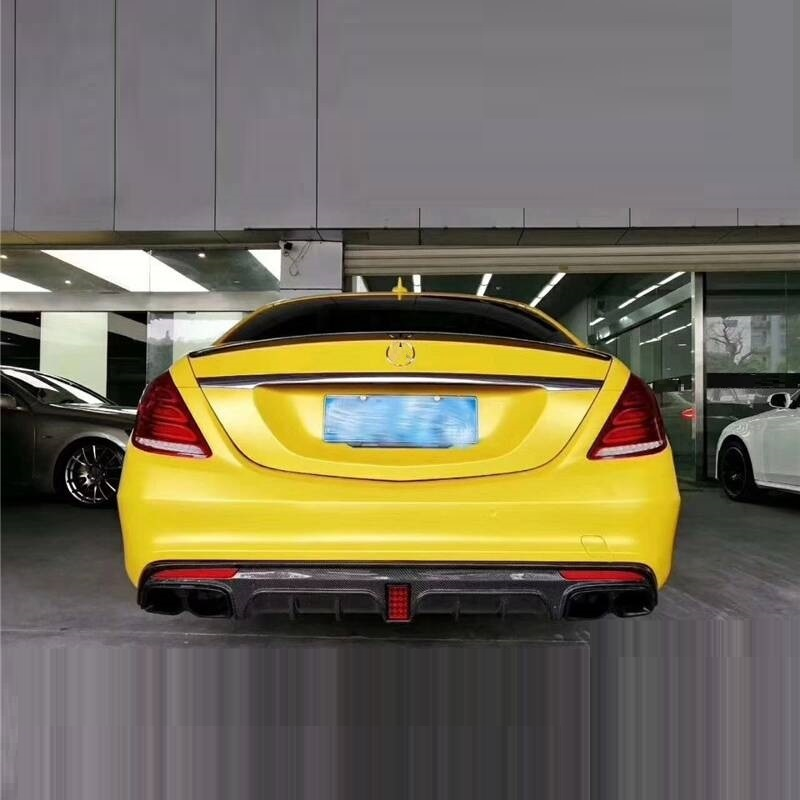 Спереди губ Тюнинг автомобилей Декоративные интимные аксессуары Запчасти сзади диффузор защитные бамперы 14 15 16 17 18 для Mercedes Benz S Class