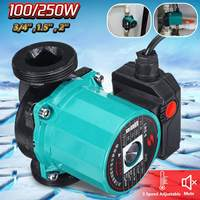 3 Speed 220V Central Heating Circulator Mute Boiler Hot Water Circulating Pump Cast Iron IP42 Protection F Class Insulation