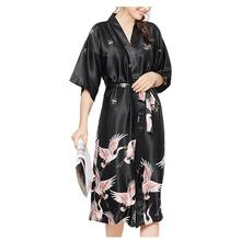 Women s Silk Robe Wedding Female Pajamas Long Red Night Robe Home Clothes  Soft Bridal Party Robes 468d80ae0