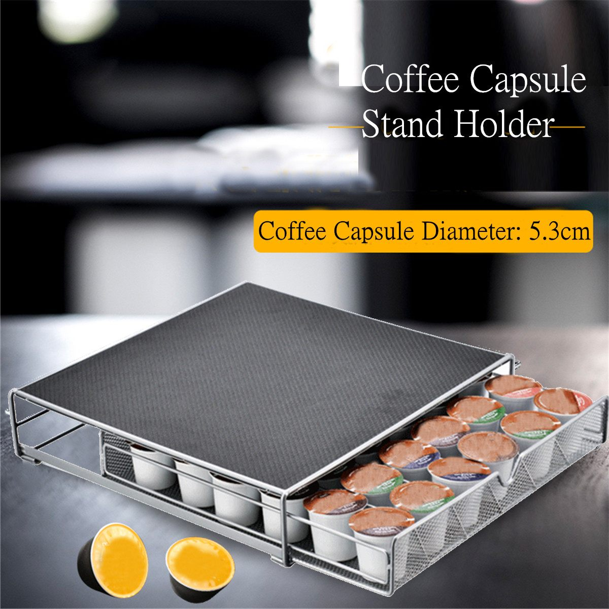 Home Coffee Capsule Holder Stand Tower Racks Storage Shelves Organizer Kitchen Accessories Storage Capsule Office Holder Drawer
