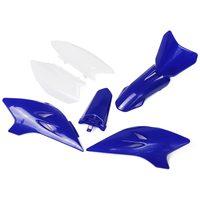 6 pçs/set Azul Branco Carenagem do ABS Para Fender Capa Shell Kit Para Yamaha TTR Dirt Bike 50 TTR50 2006  2018|Kits de carenagem completa|   -