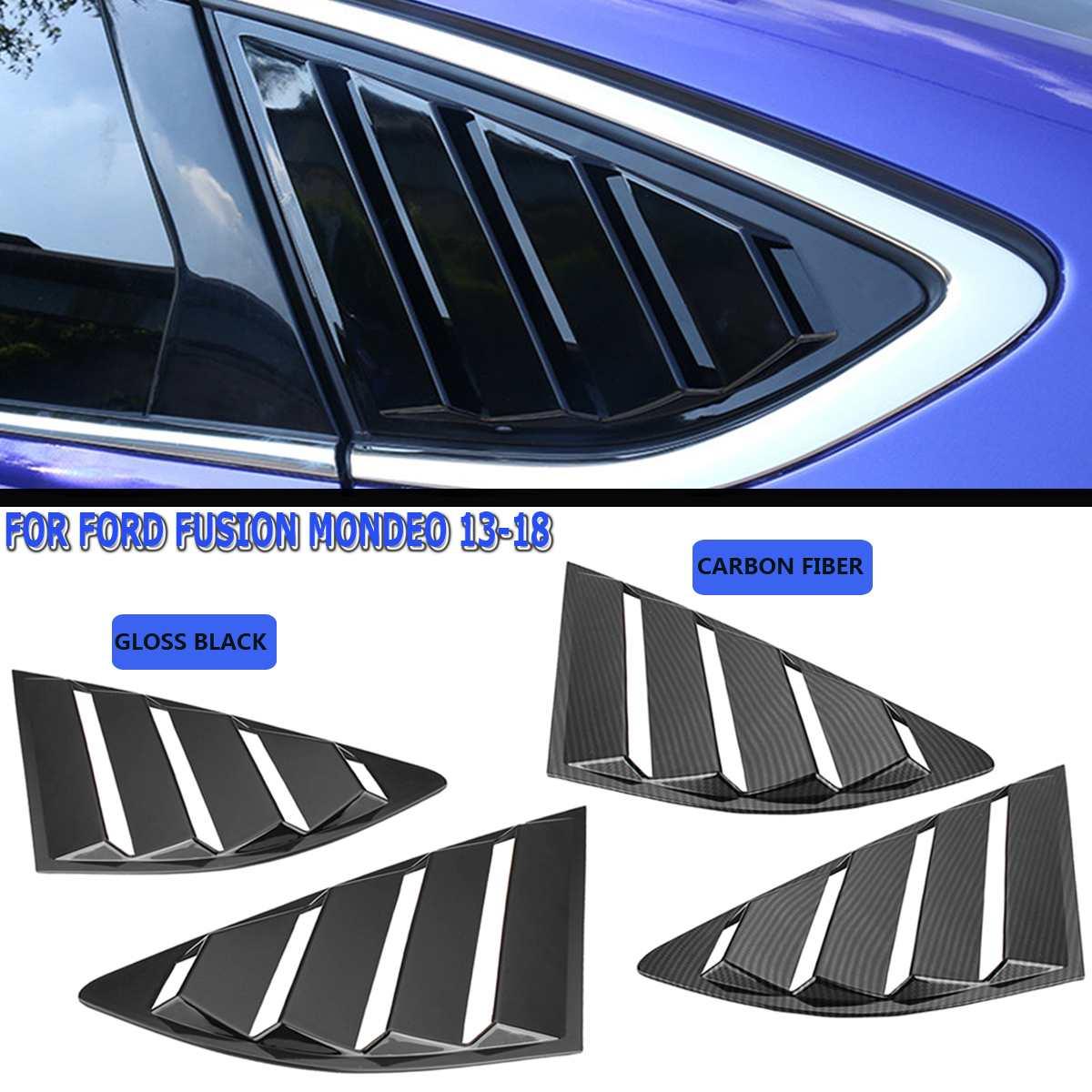 Ford Fusion pour Mondeo | Paire de ventilateurs de couverture pour vitres latérales de voiture, style de voiture pour Ford Fusion, 2013 2014 2015 2016 2017