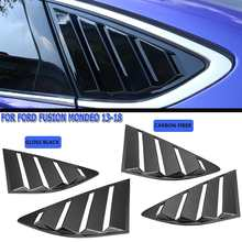 Pair Quarter Louver Cover Vents Rear Side Window Car Styling For Ford Fusion for Mondeo 2013 2014 2015 2016 2017 2018