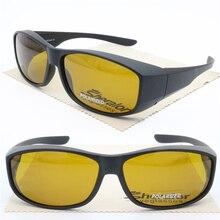 Anti-blue light eyewear fit over gaming glasses UV400 polarized anti-slip shield fullim wear on orange color sunglasses 017