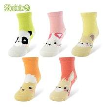 5 пара/лот, Детские хлопковые носки с рисунком Kawaii Дышащие носки для маленьких мальчиков и девочек, детские носки 5 видов, подходят для От 1 до 10 лет