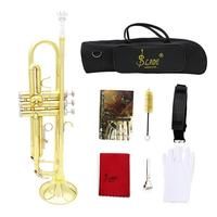 Professional Brass Music Instruments Trumpet with Bag