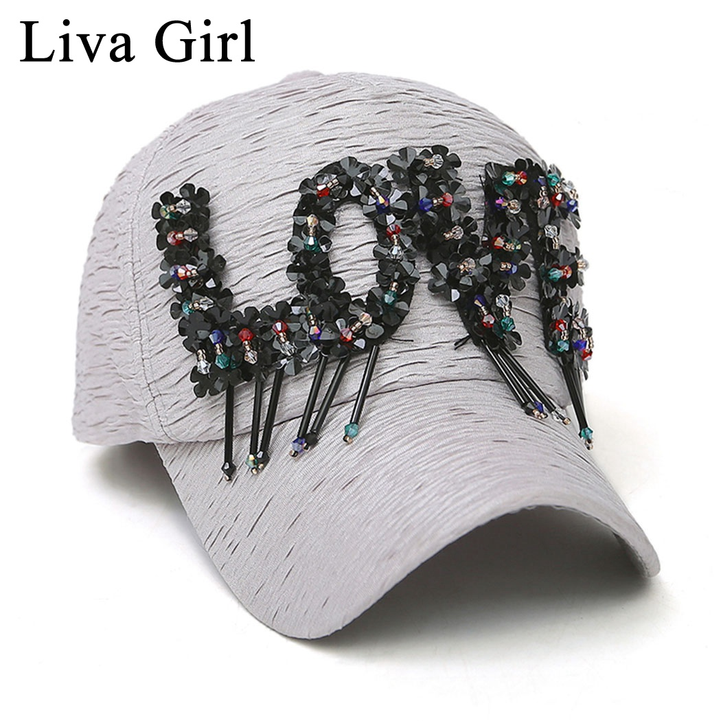 Amicable Liva Girl Cute Girls Style Baseball Caps Adjusable Pleated Caps Women Love Letter Snapback Hat Streetwear Ladies Girls Pink Caps