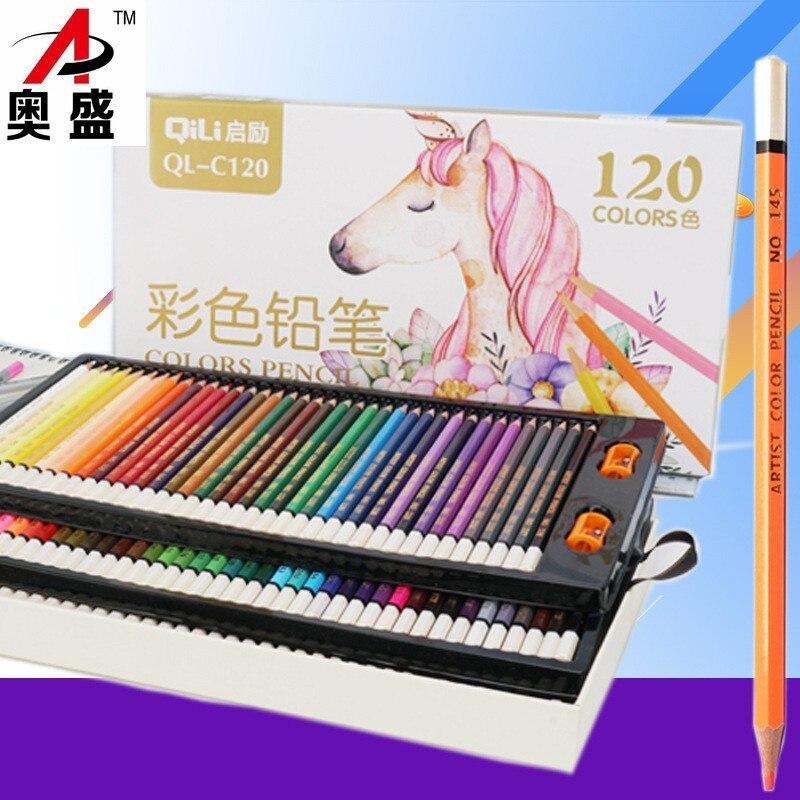 HUIQIN 120 différents crayons De couleur Lapis De Cor professionnels artiste peinture crayon pour dessin croquis Art papeterie crayon
