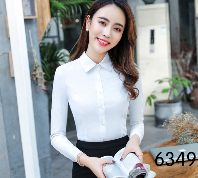 60c29205 New Autumn 2018 White Womens Tops And Blouses Long Sleeve Chiffon Blouse  Mujer Fashion Shirts Ladies Tops Camisa Feminina